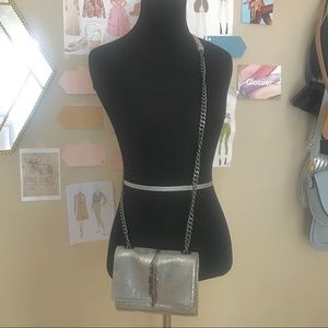 Zara feather purse